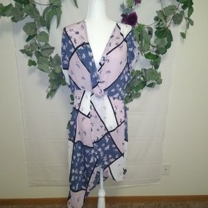 NY&Co Asymmetrical Dress, Floral NWT